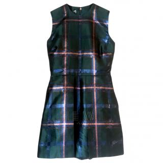 Mulberry Green Metallic Check Faye Playsuit
