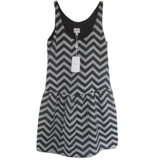 Armani Collezioni Chevron mini sheath dress