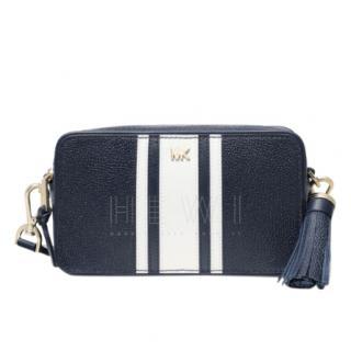 Michael Kors Navy Contrast Stripe Crossbody Bag