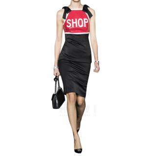 Moschino Couture Red & Black Fitted SHOP Dress
