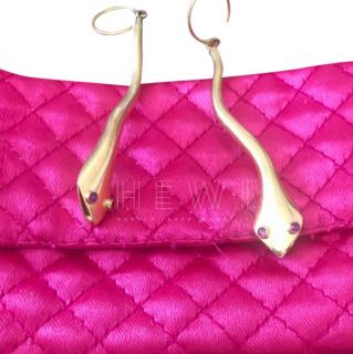 Amrapali 18k Yellow Gold Ruby Snake Earrings