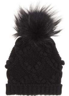 Dolce & Gabbana Black Fur-embellished Cashmere Hat