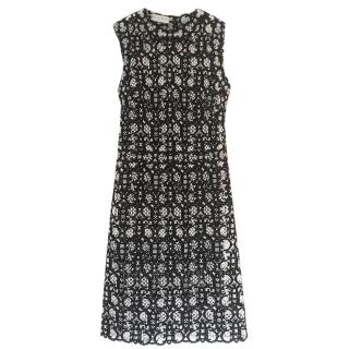 Emilio Pucci Black & White Embroidered Shift Dress