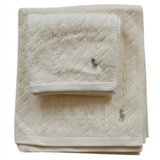 Ralph Lauren cable-knit towel set