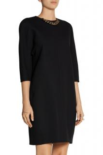Victoria Beckham Crepe Chain Trim Dress