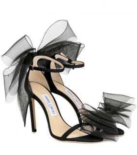 Jimmy Choo Aveline Tulle 100mm Sandals