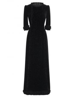 The Vampire's Wife Street Sweeper Sparkle Velvet Cate Dress