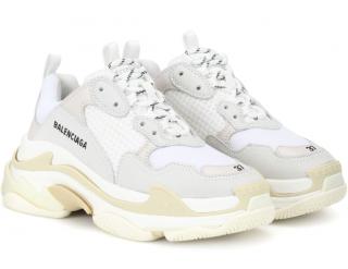 Balenciaga Triple S Leather & Nubuck Sneakers