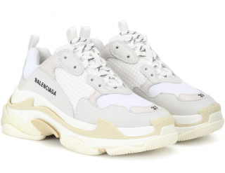 Balenciaga Triple S Leather & Nubuck Sneakers