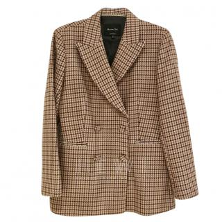 Massimo Dutti Houndstooth check jacket