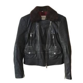 Burberry Brit Aviator Leather Jacket