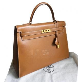 Hermes Vintage Gold 32cm Kelly Bag