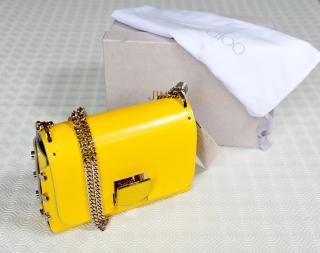Jimmy Choo Yellow Lockett Shoulder Bag