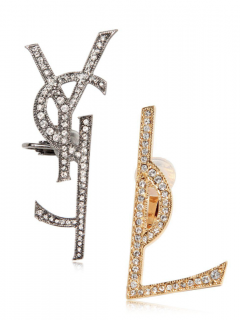 Saint Laurent Monogram Deconstructed Earrings