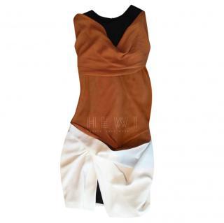 Thierry Mugler Draped Colourblock Dress