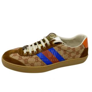 Gucci Dapper Dan G74 Brown Sneakers