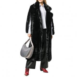 Each x Other Black Vegan Faux Fur Coat