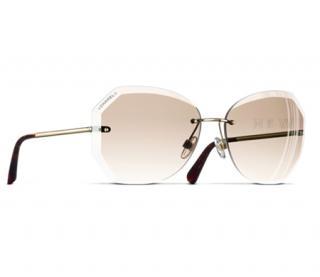 Chanel Beige 4220 C395-3B Gold Frame Sunglasses - new Season