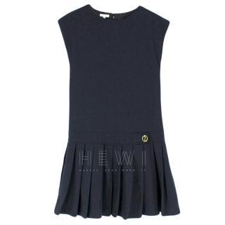 Gucci Girl's 14y Short Navy Blue Wool Dress