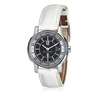 Bvlgari Leather Solotempo Watch