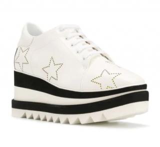 Stella McCartney White Sneak Elyse Studded Star Sneakers