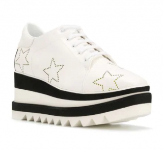 Stella McCartney White Sneak Elyse Studded Star Sneakers