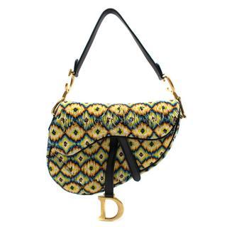 Dior Embroidered Fringe & Beads Multi-Colour Saddle Bag