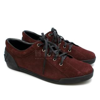Gucci Bordeaux Suede Sneakers