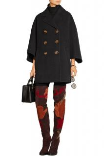 Burberry Prorsum black wool cape inspired felt coat