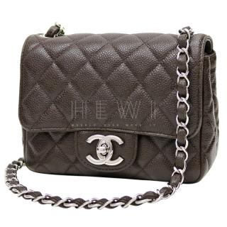 Chanel Brown Caviar Leather Mini Classic Flap