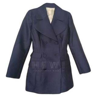Antonio Berardi Navy Silk Blend Jacket