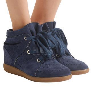 Isabel Marant Black Suede Bobby Sneakers
