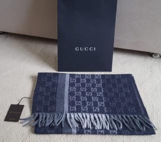 Gucci GG Guccissima Cashmere & Wool Scarf