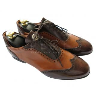 Stefano Ricci Brown Leather Brogues