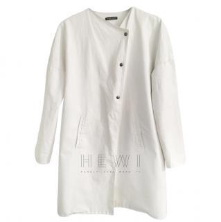 Sarah Pacini White Rain Coat