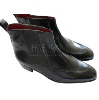 Artioli Black Leather Ankle Boots