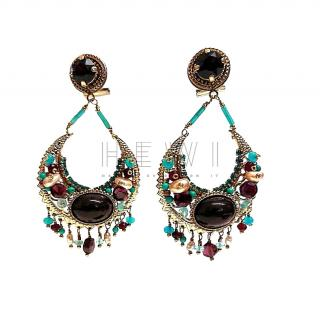 Satellite Paris Crystal Embellished Drop Earrings