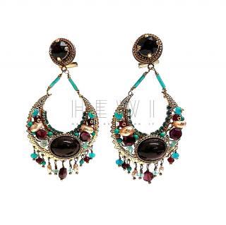 Satellite Paris Crystal Embellished Drop Earrings