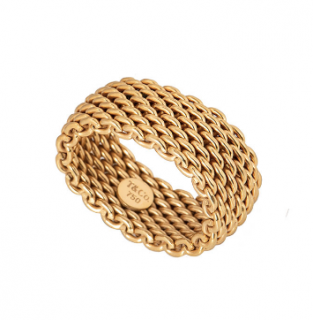 Tiffany & Co. 18k Yellow Gold Mesh Ring