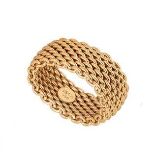 Tiffany & Co. 18k Yellow Gold Mesh Ring
