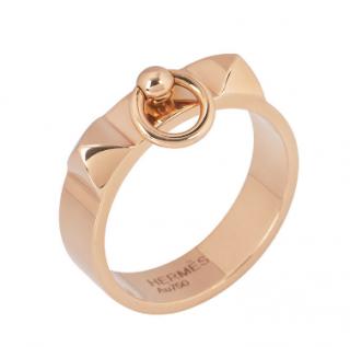 Hermes Rose Gold Collier De Chien Ring