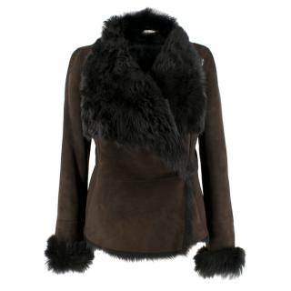 Marc Cain Fur Lined Suede Jacket