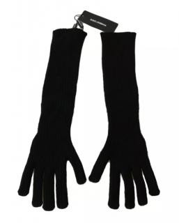 Dolce & Gabbana black cashmere elbow gloves