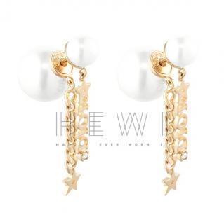 Dior Tribales Chain Drop Earrings