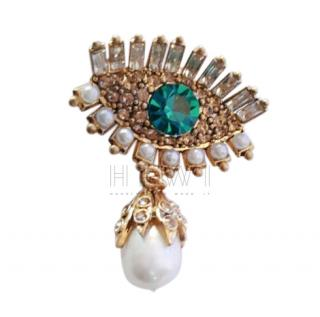 Alexander McQueen Jewelled Eye Brooch