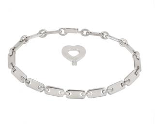 Cartier Heart Charm Link Bracelet