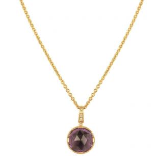 Bvlgari Rose Gold Amethyst Pendant Necklace