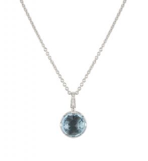 Bvlgari White Gold Aquamarine Pendant Necklace