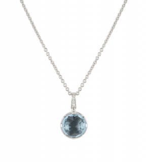 Bvlgari White Gold Aquamarine Pendant Necklace