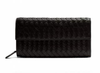 Bottega Veneta Intrecciato Leather Continental Waller